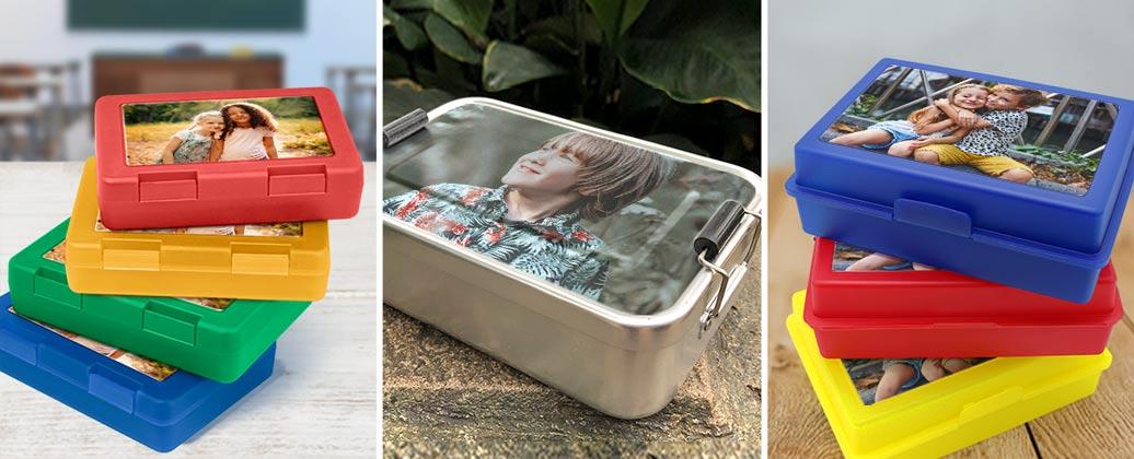 Brotdosen mit eigenem Foto gestalten